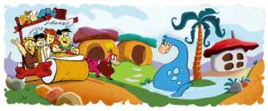 Flintstones Google logo
