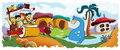 Google Flintstones anniversary logo