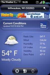 Weather Channel app #1