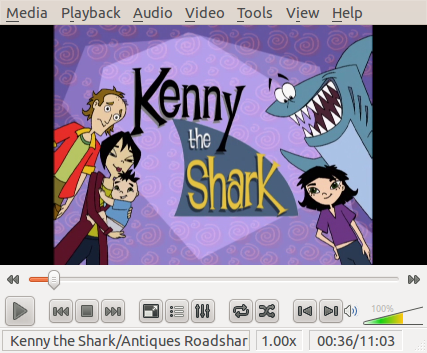 VLC with Kenny the Shark episode