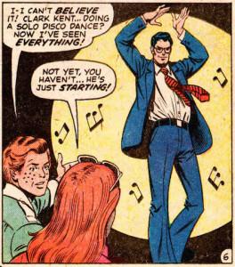 Clark Kent disco dancing