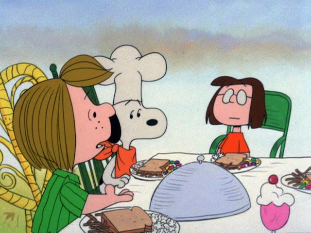"Thanksgiving specials: ""A Charlie Brown Thanksgiving"""