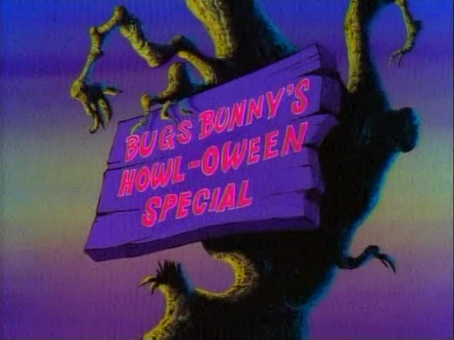 Bugs Bunny Howl-oween Special title card