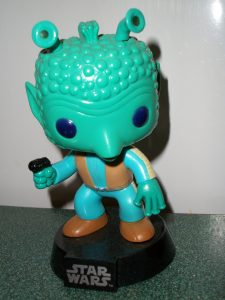 Greedo bobblehead toy (front)