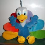 NBC peacock toy (front view #1)