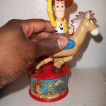 Woody and Bullseye Happy Meal toy in action