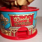 Woody and Bullseye candy dispenser opening