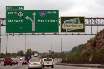"I287 ""Welcome to New Jersey"" highway sign"