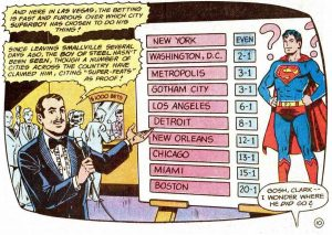 Superboy's possible cities to move to