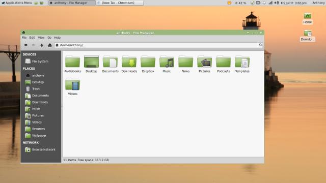 Linux Mint 17 desktop