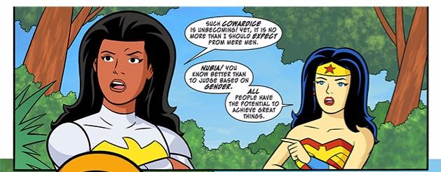 Nubia and Wonder Woman from Scooby-Doo Team-Up