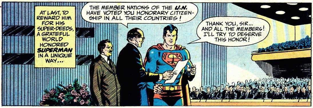 Superman given honorary citizenship by the United Nations