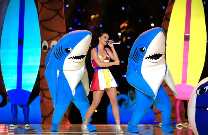 Katy Perry and sharks
