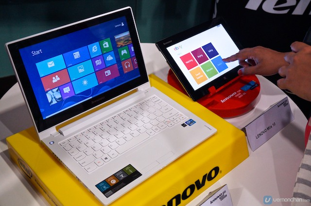 Lenovo laptop and tablet