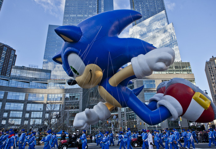 Sonic balloon at the Macy's Thanksgiving Parade