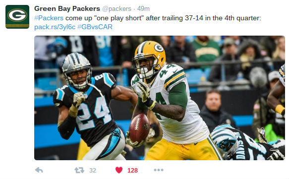 Twitter on the Green Bay Packers