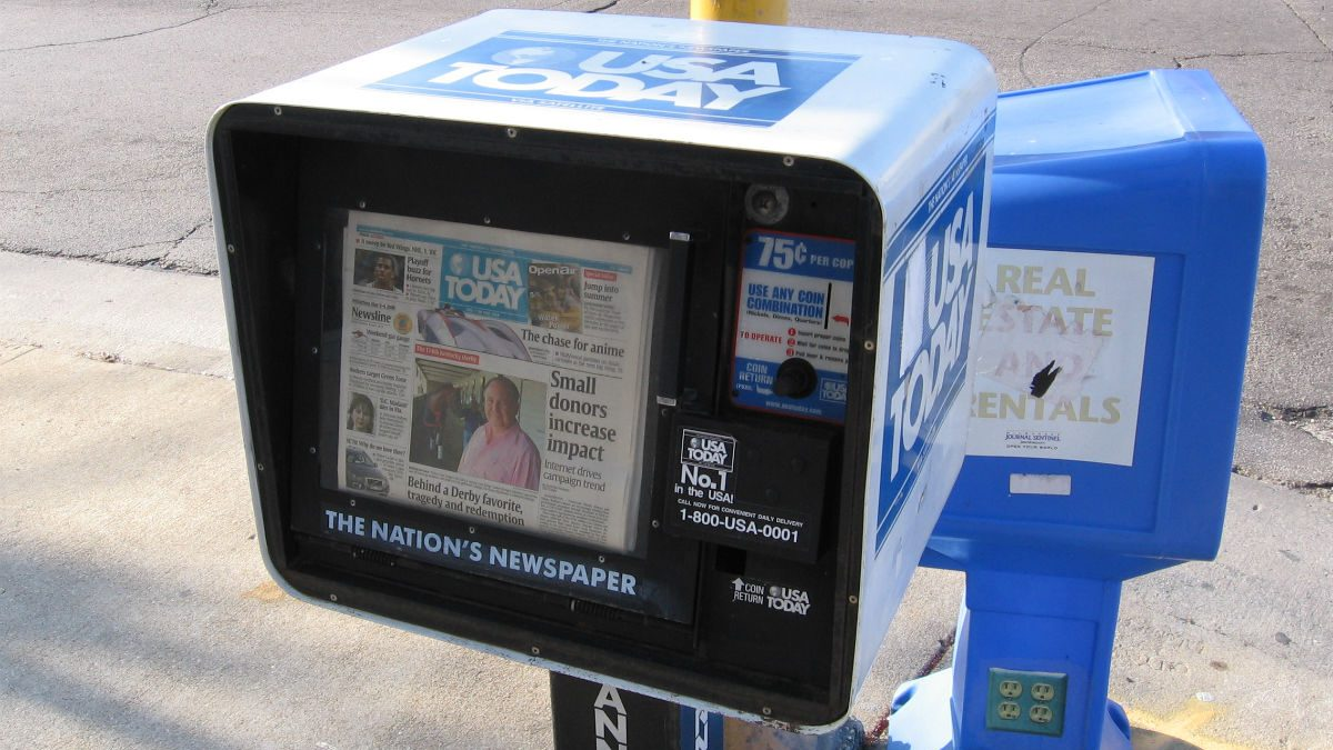 USA Today newspaper box