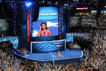 2012 Democratic National Convention with First Lady Michelle Obama