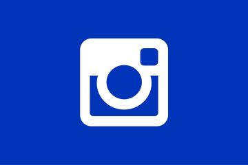 Instagram logo on blue background