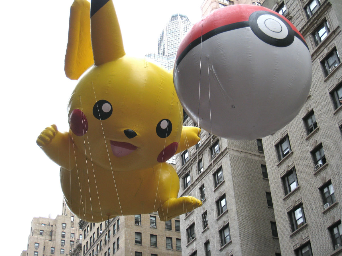 Pikachu at the Macy's Thanksgiving Parade
