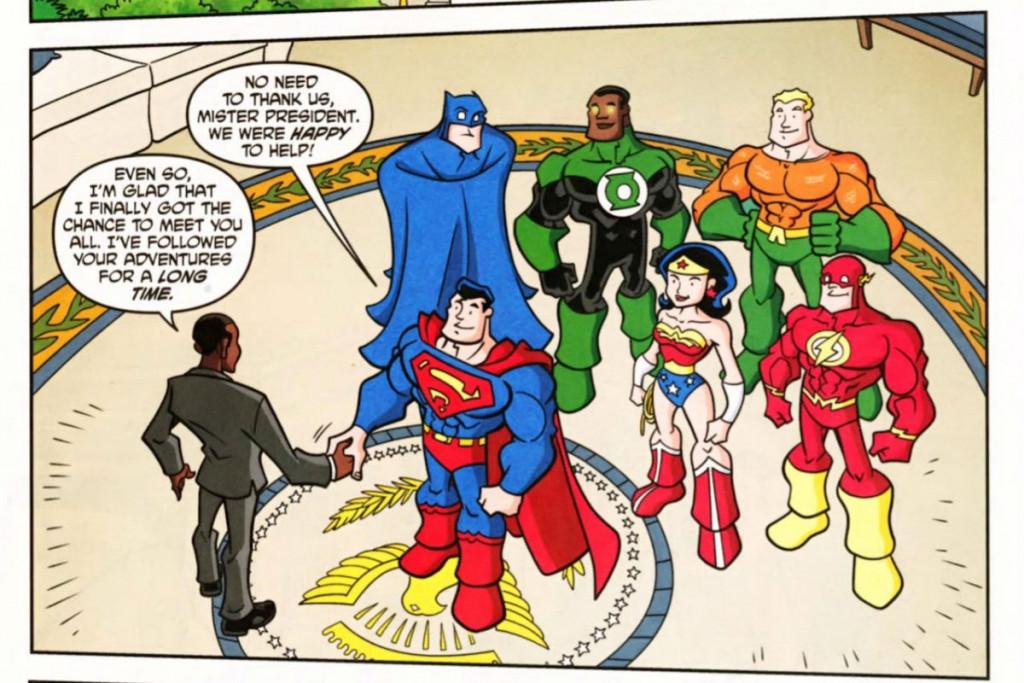 DC Super Friends meet Obama