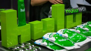 Hulu logo out of Legos