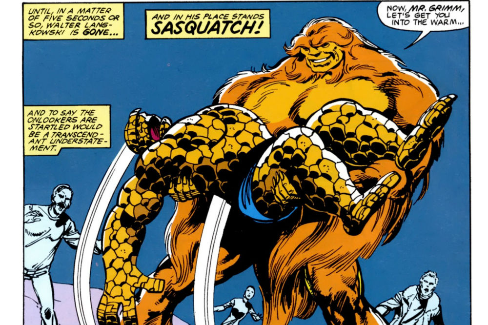 Alpha Flight #11 with Sasquatch and the Thing