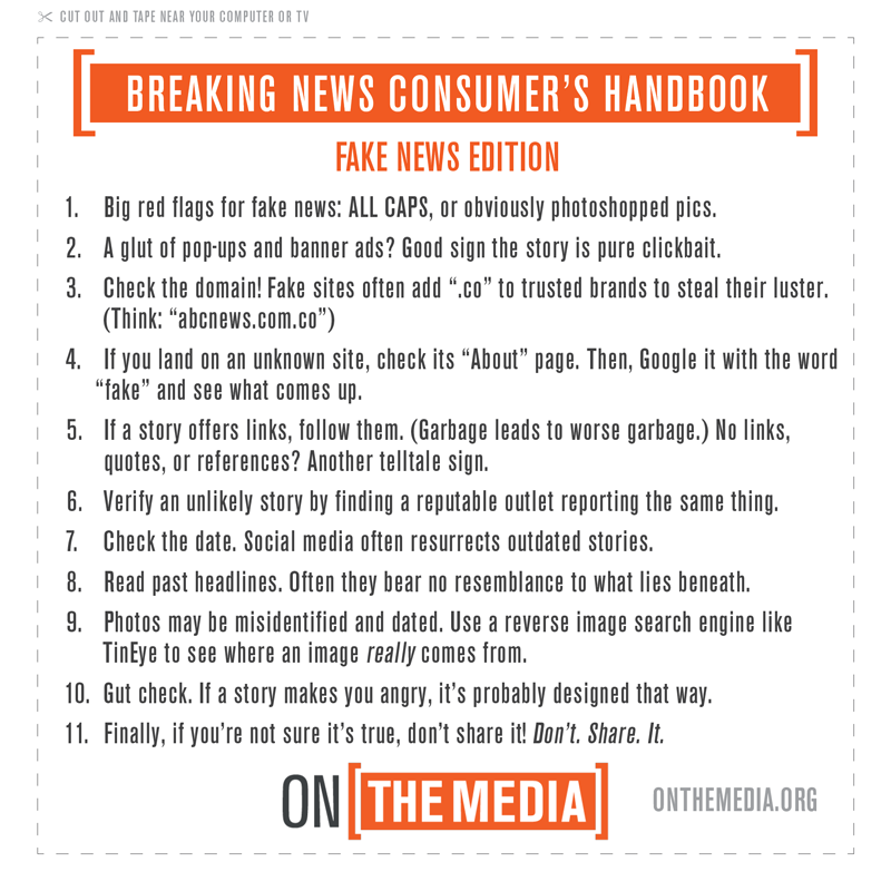 On the Media's fake news guide infographic