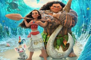 "Poster for Disney's animated film ""Moana"""
