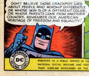 Batman 1950s PSA on immigrants