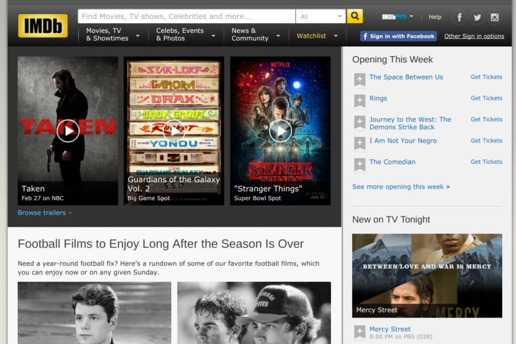 IMDb page screenshot