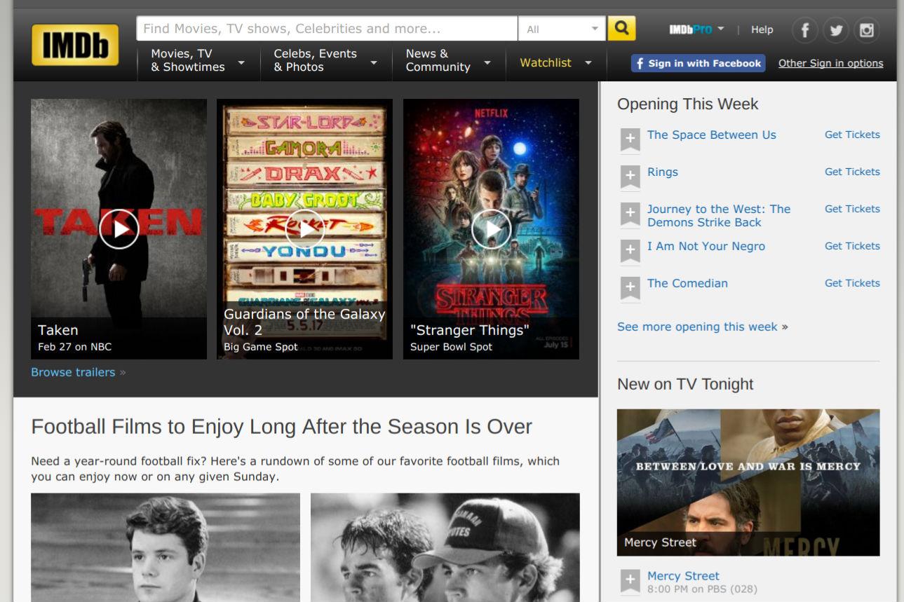 IMDb page screenshot