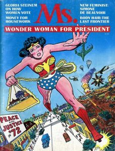 "Wonder Woman on ""Ms."" magazine, June 1972"
