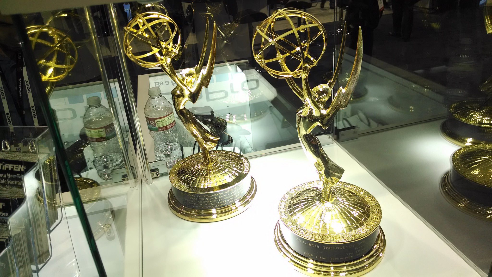Emmy Award trophies