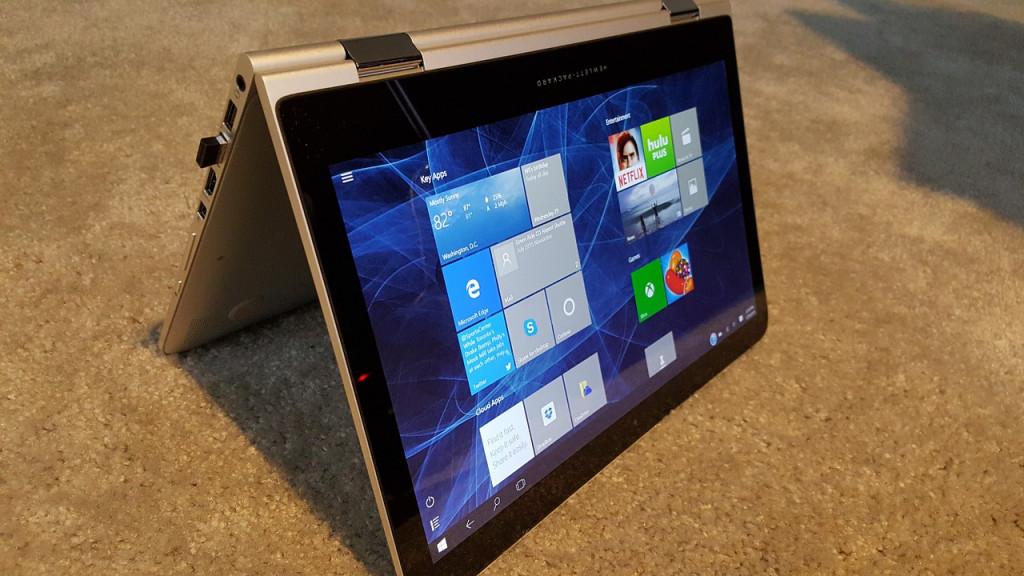Windows 10 reversible laptop