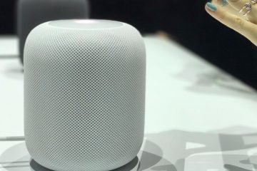 HomePod on display at WWDC 2017