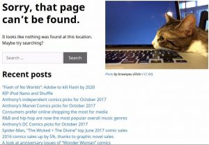 Anthony's Notes' 404 page