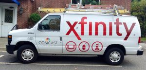 Comcast/Xfinity van