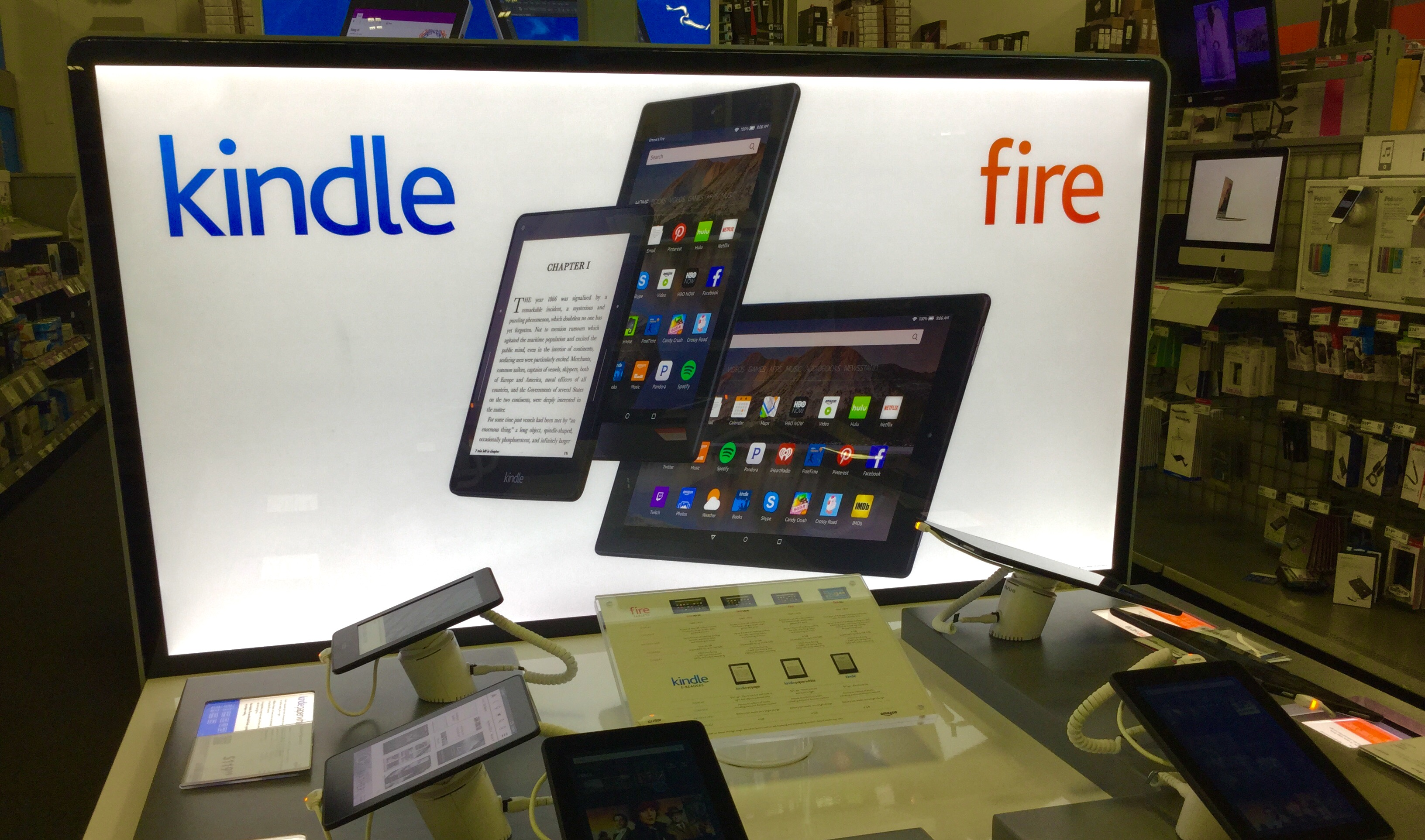 Fire tablets display