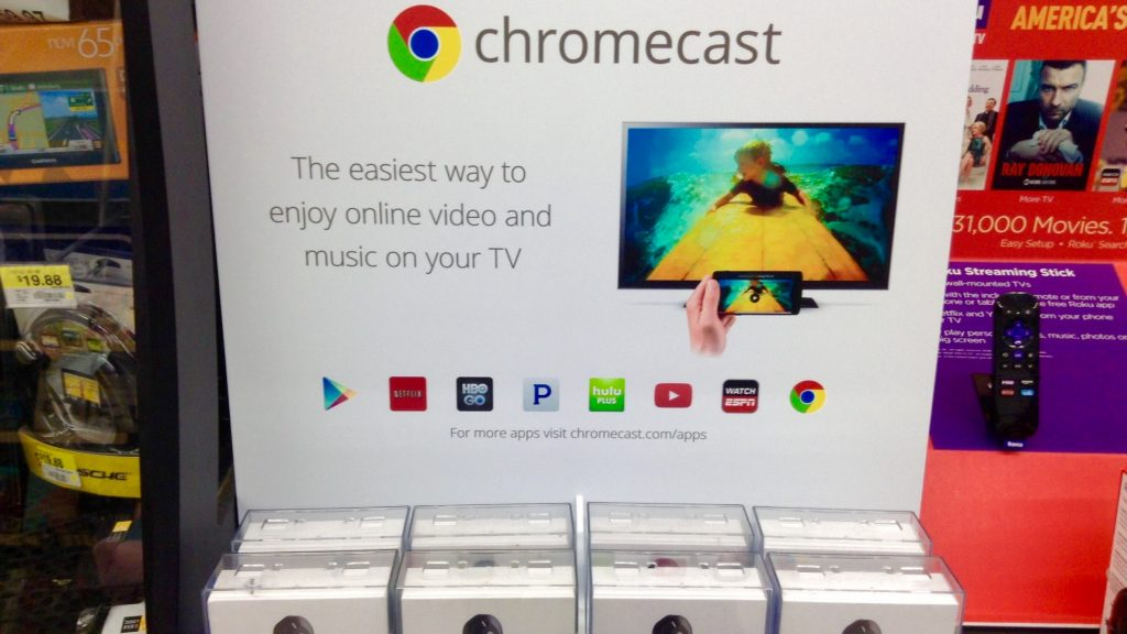 Chromecast store display