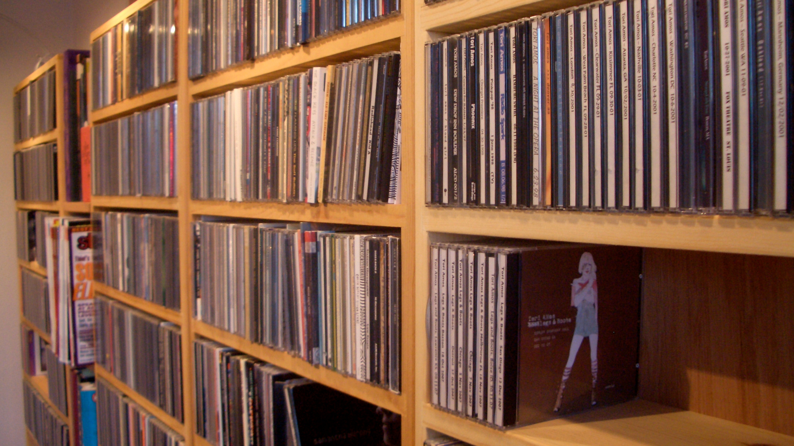 Bookcase of CDs