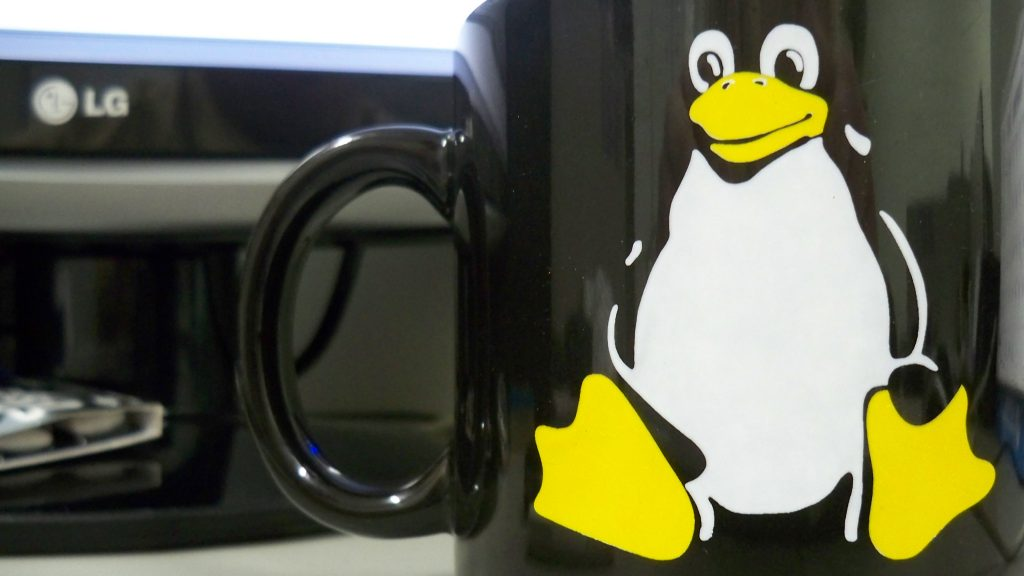 Tux the Linux penguin mug
