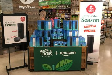 Amazon display at Whole Foods
