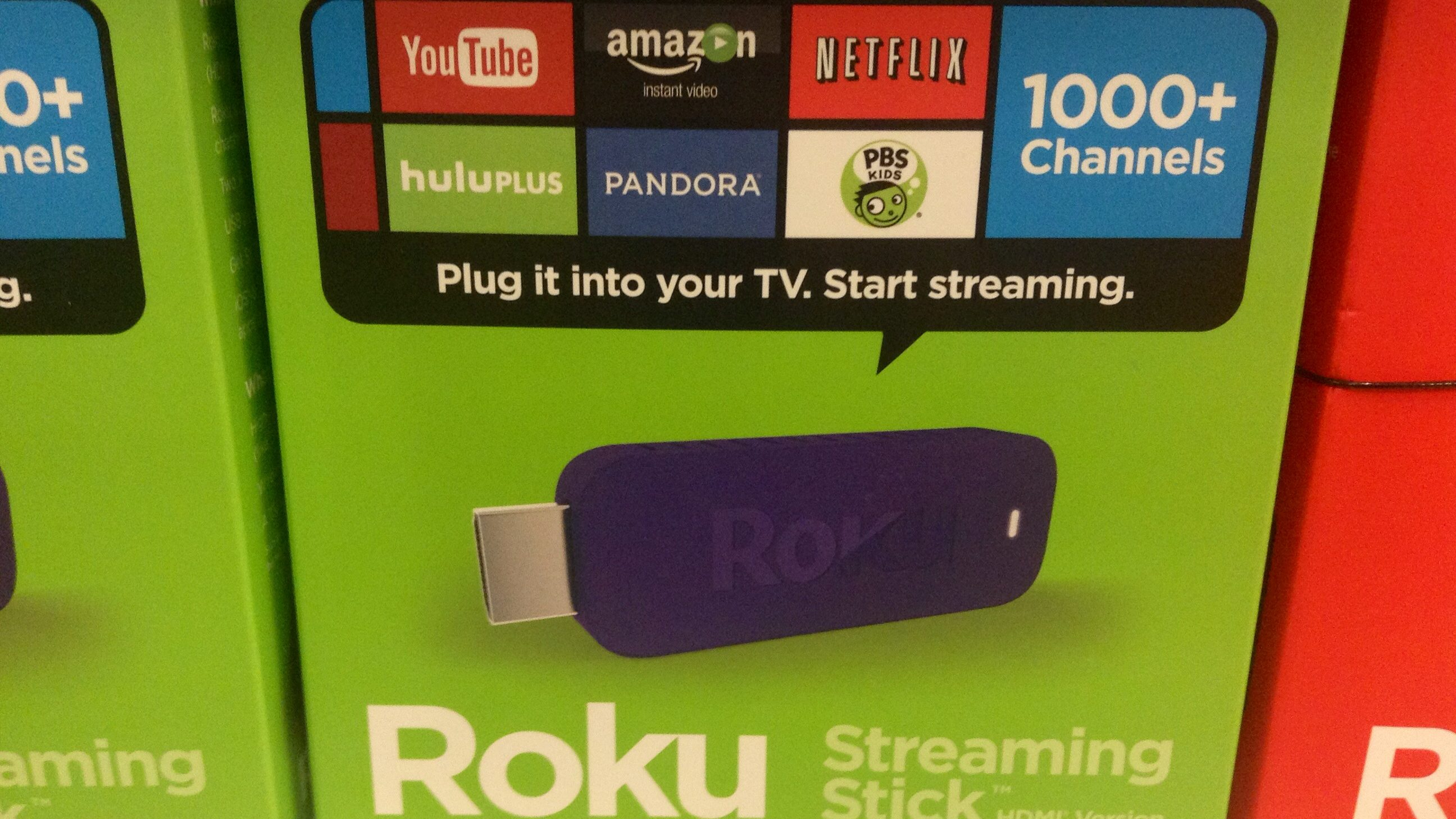 Roku streaming stick box