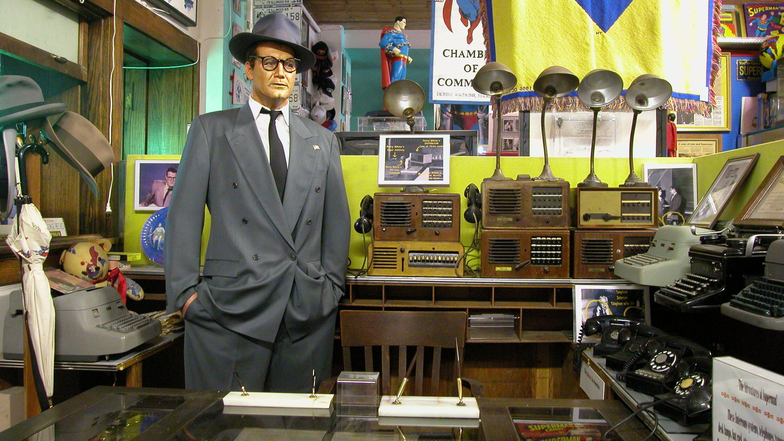 Clark Kent at the Superman museum