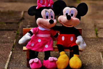 Mickey and Minnie Mouse dolls