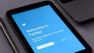 Twitter welcome screen