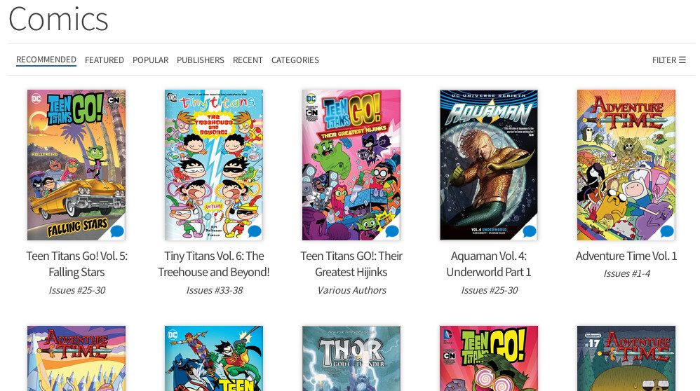 Hoopla recommended comics