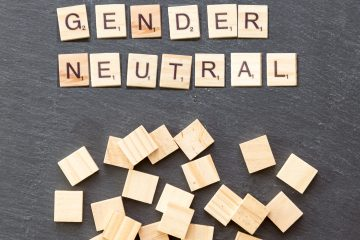 Scrabble tiles spelling gender-neutral
