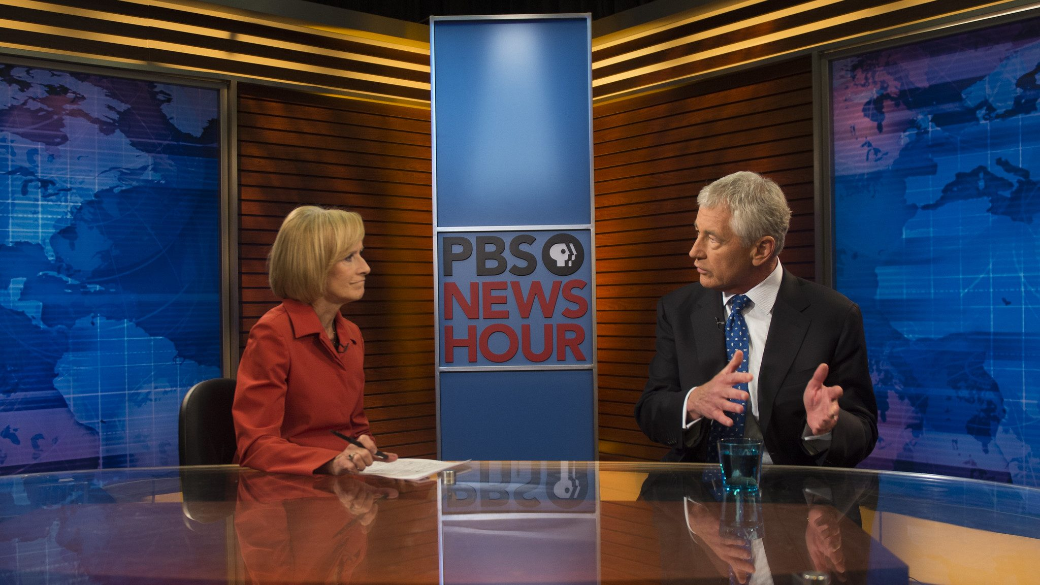 PBS News Hour and Chuck Hagel